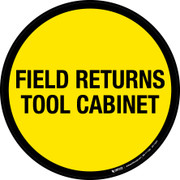 Field Returns Tool Cabinet Floor Sign