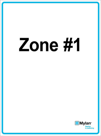 "Wall Sign: (Mylan Logo) Zone #1 15""x20"" (Mounted on 3mm PVC) Double Sided"