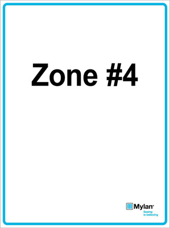 "Wall Sign: (Mylan Logo) Zone #4 15""x20"" (Mounted on 3mm PVC) Double Sided"