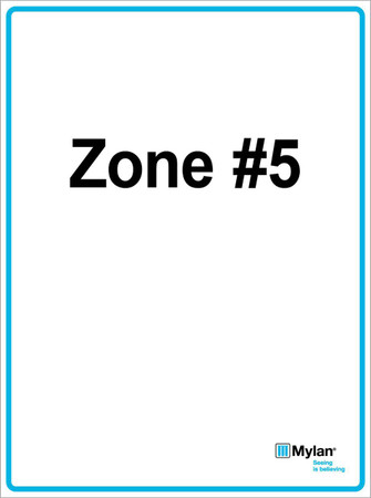 "Wall Sign: (Mylan Logo) Zone #5 15""x20"" (Mounted on 3mm PVC) Double Sided"