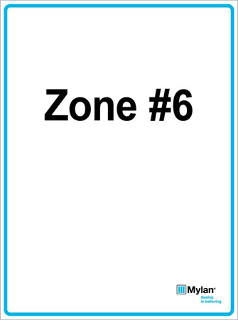 "Wall Sign: (Mylan Logo) Zone #6 15""x20"" (Mounted on 3mm PVC) Double Sided"