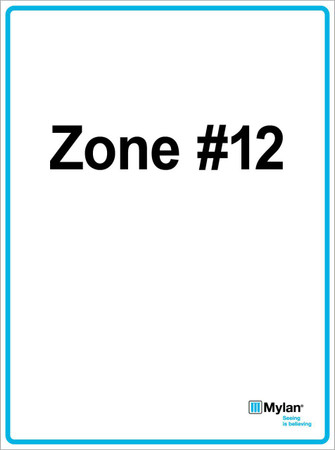 "Wall Sign: (Mylan Logo) Zone #12 15""x20"" (Mounted on 3mm PVC) Double Sided"