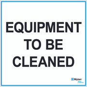 "Wall Sign: (Mylan Logo) Equipment To Be Cleaned 20""x20"" (Mounted on 3mm PVC)"