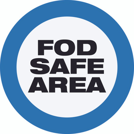 FOD Safe Area Type A (Floor Sign)