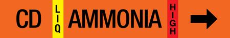 Ammonia Label - Condenser Drain
