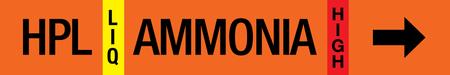 Ammonia Label - High Pressure Liquid