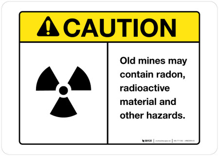Caution - Old Mine Hazards - Wall Sign