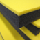"yellow and black 1-1/4"" pre-bonded tool foam"