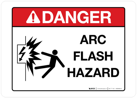 Danger - Arc Flash Hazard - Wall Sign