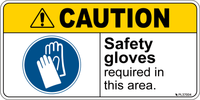 Caution - Safety gloves required in this area - label