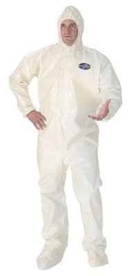 Kleenguard A80 Coveralls with attached hood and boots