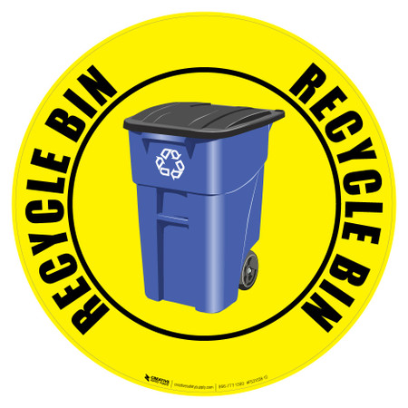 Recycle Bin Floor Sign