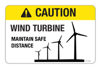 Caution - Wind Turbine Label