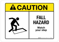 Caution - Fall Hazard - Wall Sign