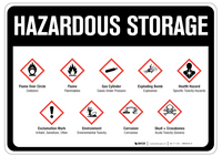 Hazardous Storage - Wall Sign