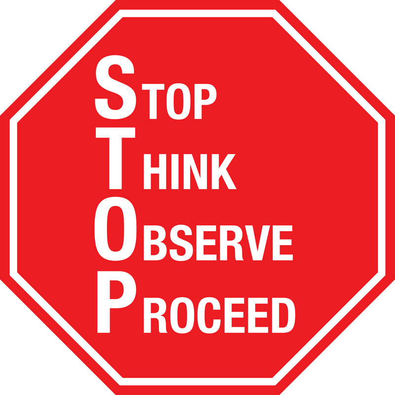 Stop Sign S T O P Floor Sign Creative Safety Supply