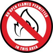No Open Flames Floor Sign