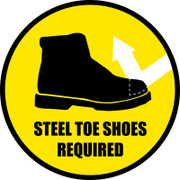Steel Toe Shoes Floor Sign