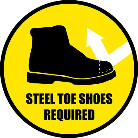 Steel Toe Shoes Floor Sign