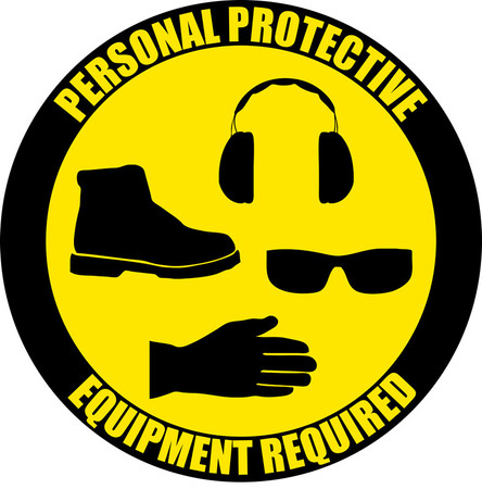 Personal Protective Equipment Required - Industrial Floor Sign