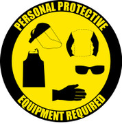 Personal Protective Equipment Required Floor Sign (Version 2)