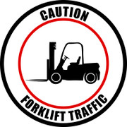 Caution Forklift Traffic - Industrial Floor Sign