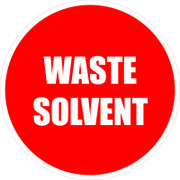 Waste Solvent Vinyl Floor Sign