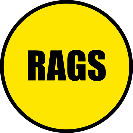 Yellow/Black Floor Sign - RAGS