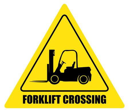 Forklift Crossing Custom Sign