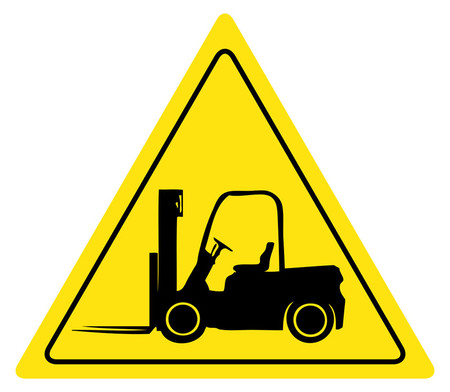 Yield Forklift Sign