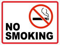 No Smoking II (Wall Sign)