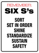 Six S's (Wall Sign)