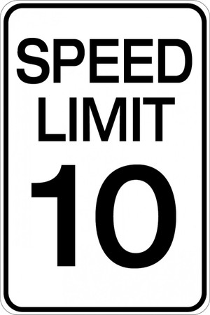 Speed Limit 10 MPH Wall Sign