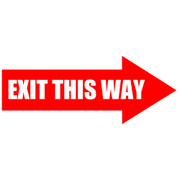Exit This Way Arrow