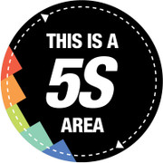 5S Area Sign (Black)