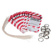 Brady Lockout Tag with Detachable Key Stub (25-pack)