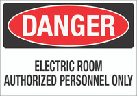 Danger: Electric Room Wall Sign