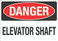 Danger: Elevator Shaft Wall Sign