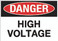 Danger: High Voltage Wall Sign