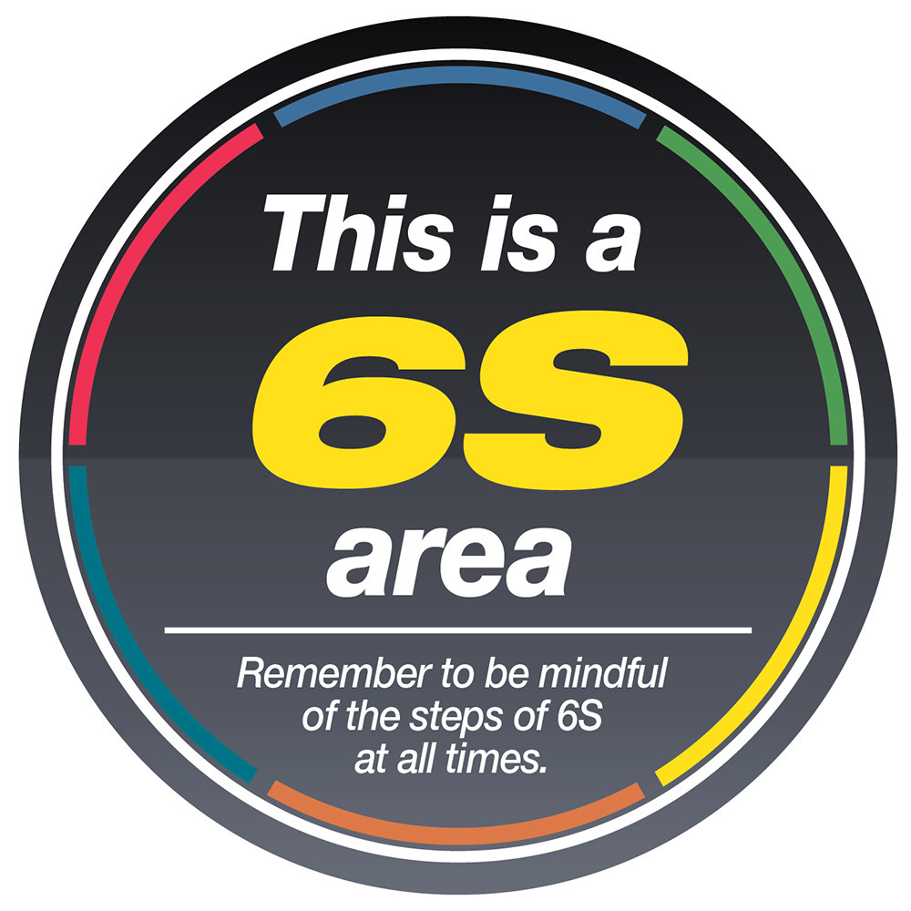 6s Area Sign Floor Sign Creative Safety Supply
