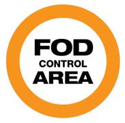 FOD Control Area Sign