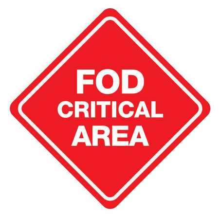 FOD Critical Area Type B (Floor Sign)