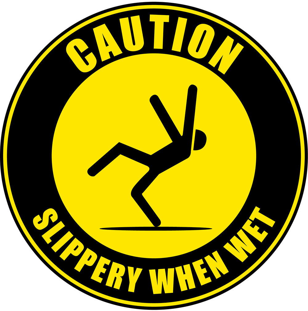 Caution - Slippery Surface - Western Safety Sign