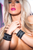 Allure Lingerie Faux Leather Zip Wrist Cuffs