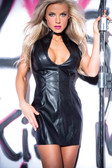 Allure Lingerie Leather Faux Flirty Studded Dress