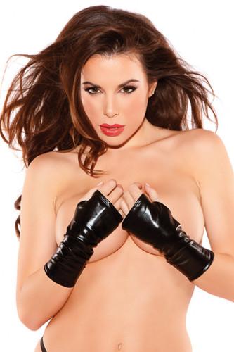Allure Leather Naughty Kitten Gloves
