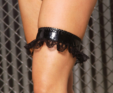 Elegant Moments Vinyl Leg Garter