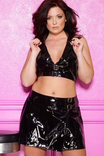 Allure Lingerie Vinyl School Girl Skirt Plus Size