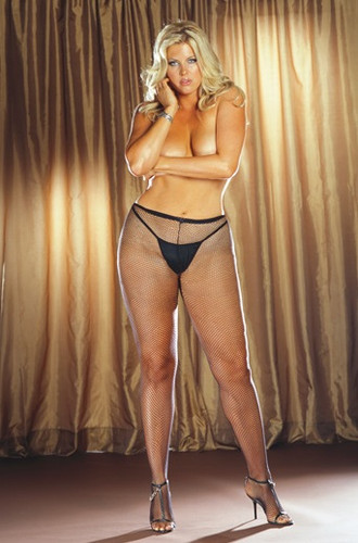 Dreamgirl Queen Fishnet Pantyhose with Back Seam