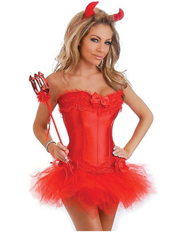 Daisy Corset 5 Pc Sexy Devil Costume